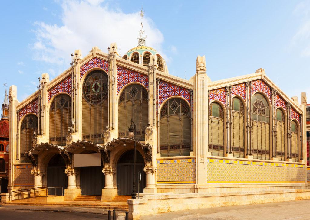 Exterior of Central Market in Valencia. Spain