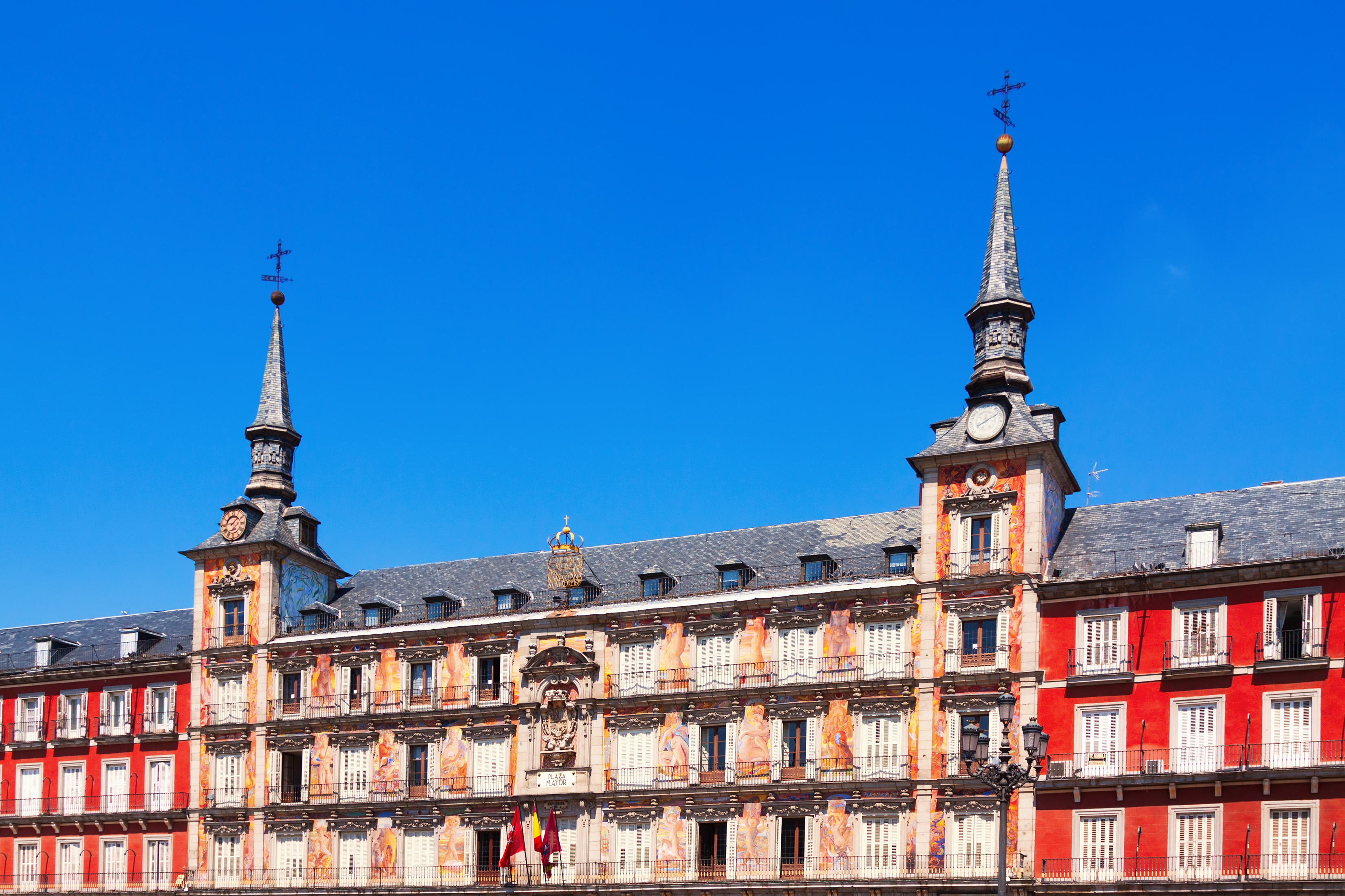 Picturesque houses at Plaza Mayor.